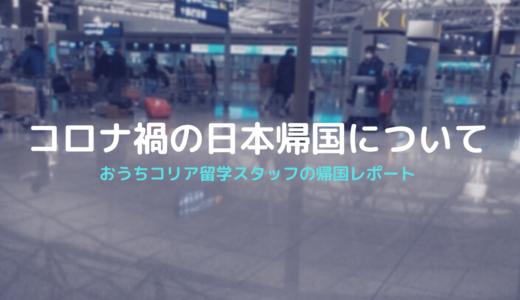 おうちコリア留学スタッフのコロナ禍の日本帰国レポ